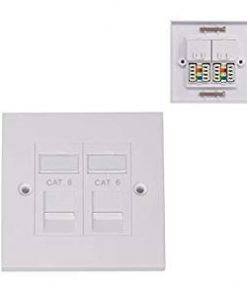 Giganet cat 6 UTP double faceplate with modules