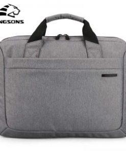 Kingsons 12″ Grey Laptop Handbag