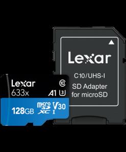 Lexar 128GB High-Performance 633x UHS-I micro SDHC Memory Card