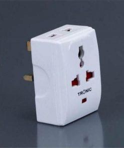 Tronic 13A UK Multiplug With 2 X USB