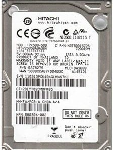Hitachi 500GB Deskstar SATA 3.5 inch 7200RPM 16MB