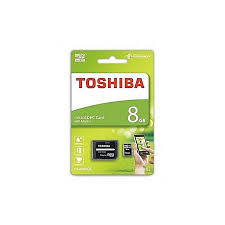 Toshiba 8GB Micro SD with Card Reader