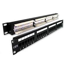 Giganet 24 ports Cat 6 UTP patch panel