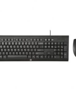 HP C2500 USB Keyboard and Mouse  Black
