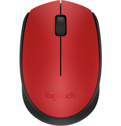 Logitech M171 Wireless Mouse- Red