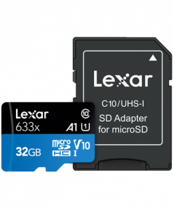 Lexar 32GB High-Performance 633x UHS-I micro SDHC Memory Card