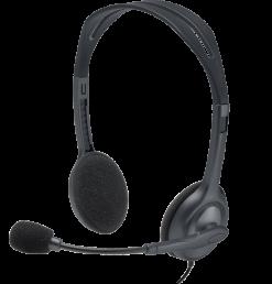 Logitech Stereo Headset H111 – Black (3.5 MM JACK)