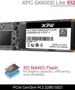 A-DATA SSD 512GB M.2 XPG SX6000 LITE PCIe GEN3*4 2280 SOLID